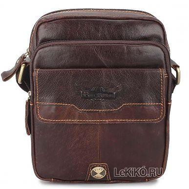 c23ac4bc9dc2 Мужская сумка через плечо из натуральной кожи «Эл» M1275 Brown2599 р.