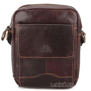 b3d2dc5eea83 Мужская сумка через плечо из натуральной кожи «Ник» M1274 Brown2599 р.