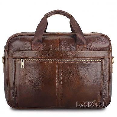 ebcfcc8e4b33 NEW!Мужской портфель из натуральной кожи «Энцо» M1280 Brown3699 р.