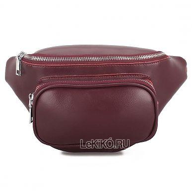 4b34b4145fdd Женская сумка на пояс из натуральной кожи «Иззи» S1036 Bordeaux3299 р.