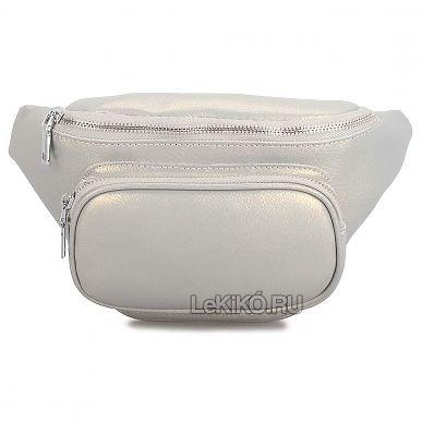 804435f12dfd Женская сумка на пояс из натуральной кожи «Иззи» S1036 Grey3299 р.